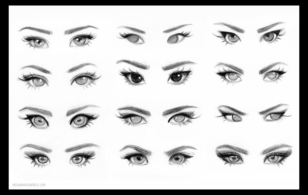 Eye Reference By Gabriellebrickey On Deviantart Female Face Drawing Reference Eye Reference B Cartoon Eyes Drawing Face Drawing Reference Girl Eyes Drawing