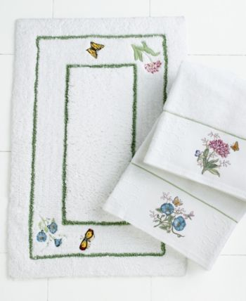 Lenox Bath Accessories Butterfly Meadow Shower Curtain Bedding