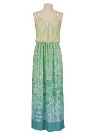 Ombre Paisley Print Dress available at #Maurices