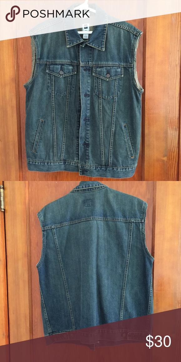 GAP jean jacket LARGE denim vest NWOT men's Gap jean jacket LARGE denim vest NWOT GAP Jackets & Coats Vests