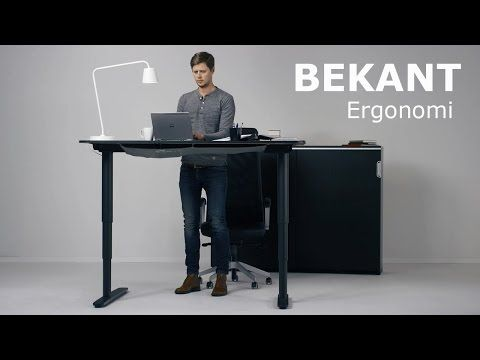 Ikea Presents Its Updated Bekant Line Of Convertible Desks Great For Our Home Office Kids Study Ikea Standing Desk Ikea Bekant Sit Stand Desk