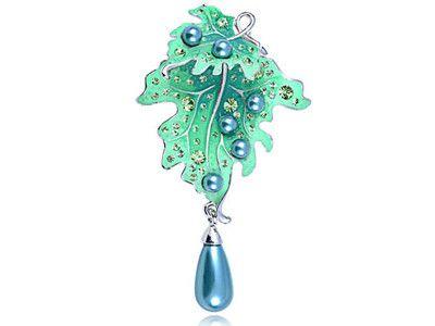 Dangling Leaf Pin Brooch