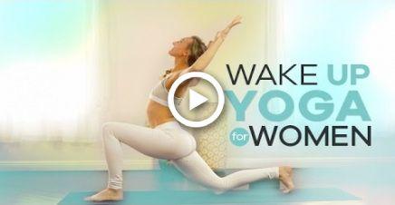 beginner morning yoga for women  10min  energizing wake