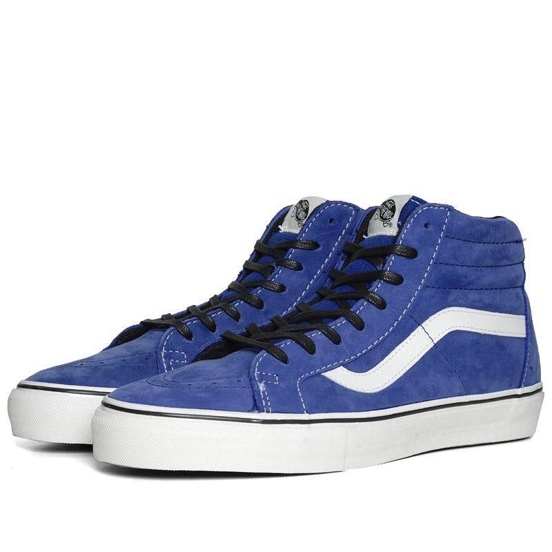 Vans Vault Sk8-Hi Notchback LX (Classic Blue) These need white laces though! 00a7f36c2e