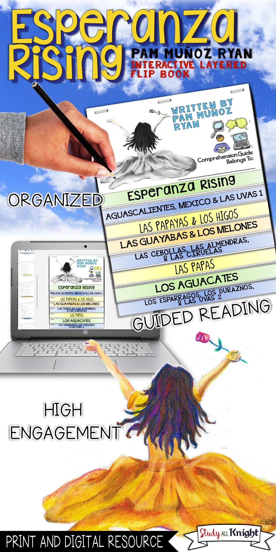 Esperanza Rising Novel Reading Guide Comprehension Questions Flip Book