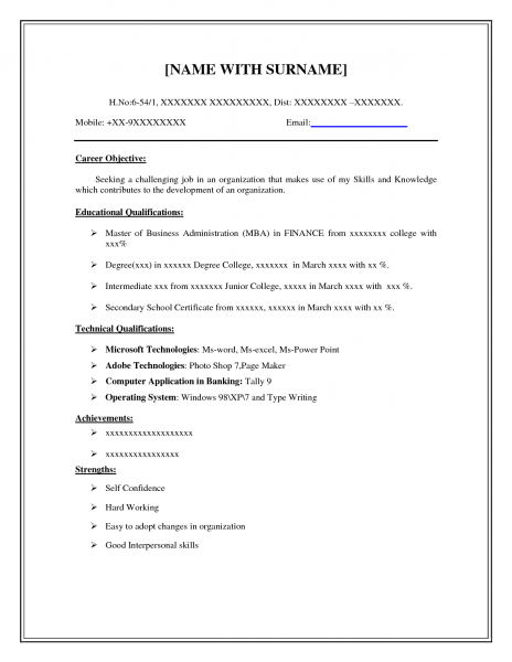 Resume On Microsoft Word Blankresumetemplatemicrosoftword464X600 464×600