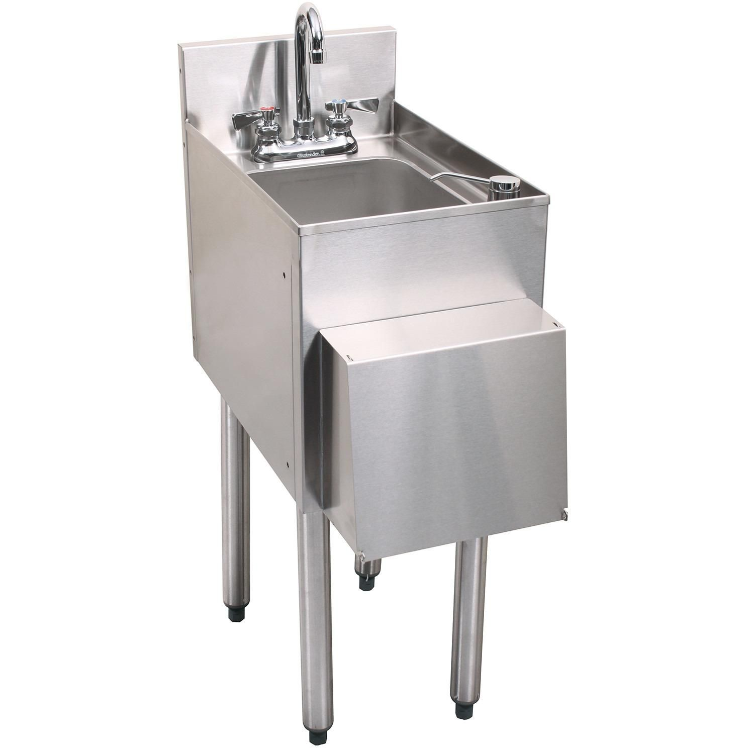 Glastender Stainless Steel C Hsa 12 D 1 Compartment Hand Sink With Images Sink Sink Units Compartment