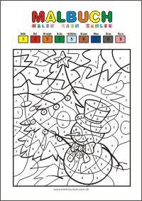 kostenlose malvorlage zum ausdrucken - kleine schule | malen nach zahlen kinder, malen nach