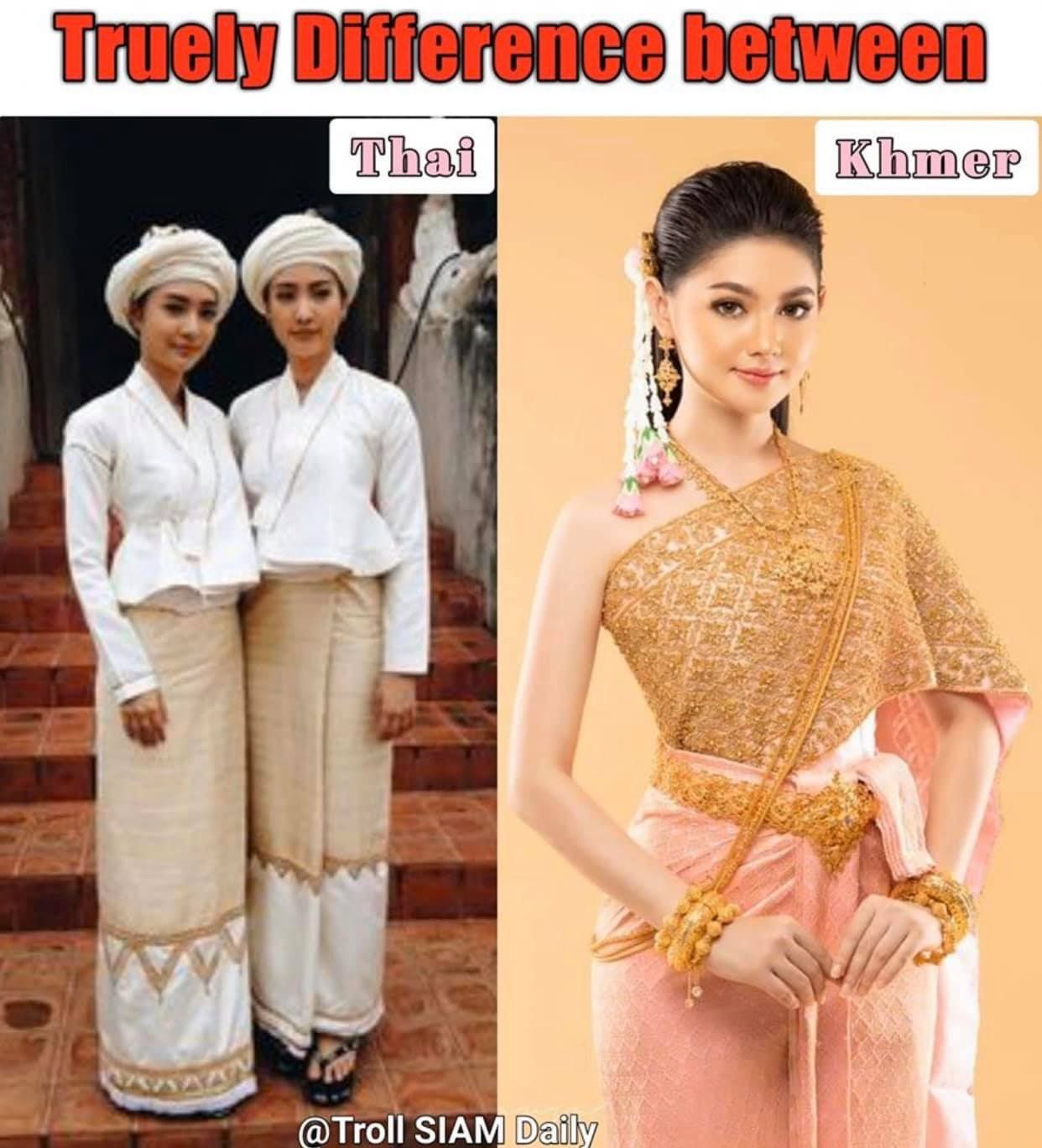 You Should Love Your Original Dress Rather Than Dress Have Been Influenced From Khmer Although It Doesn T Beautiful And Elegant But It In 2020 Costumes Thai Cambodian