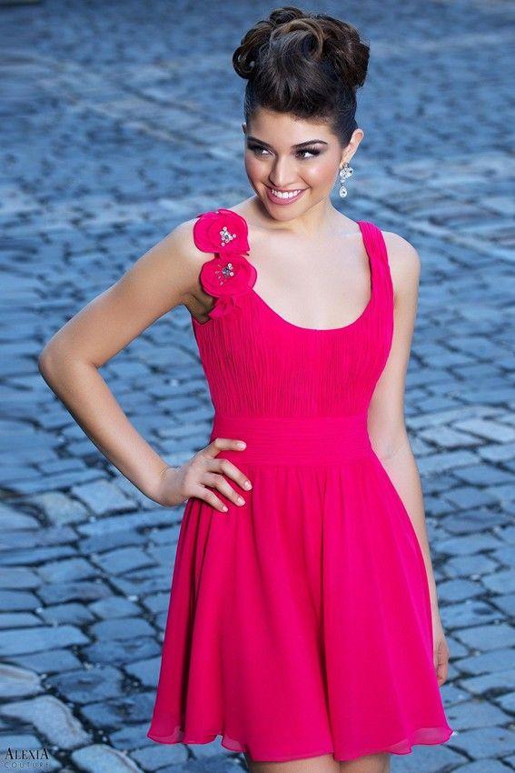 Alexia 890 Dress Scoop Neckline Shirred Bodice Skater Skirt | Alexia ...