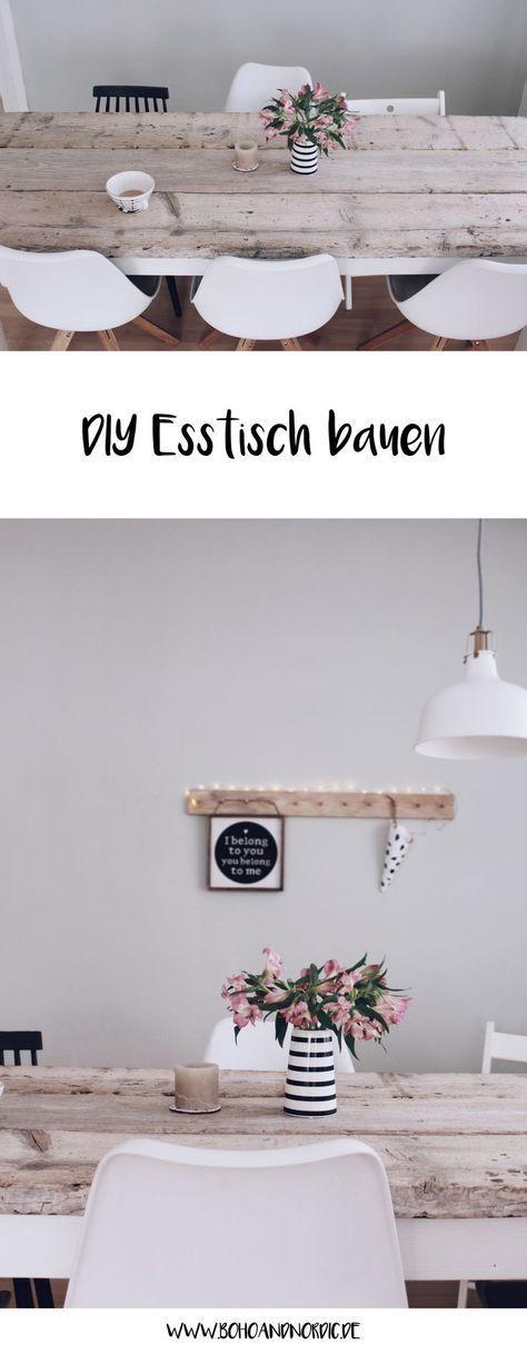 DIY Esstisch selber bauen | Pinterest | Diy möbel, Selber bauen und ...
