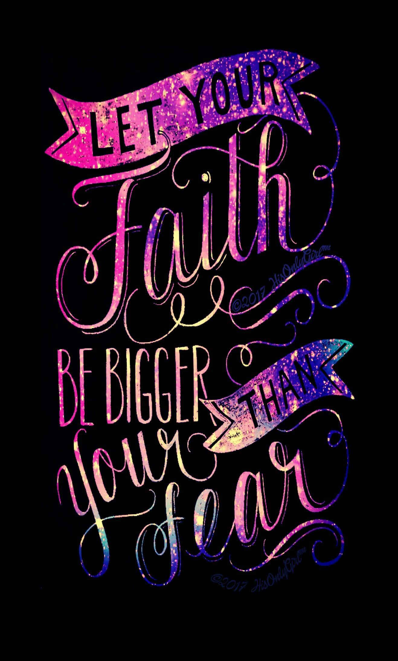 FAITH Over FEAR Galaxy Wallpaper I Created For The App CocoPPa