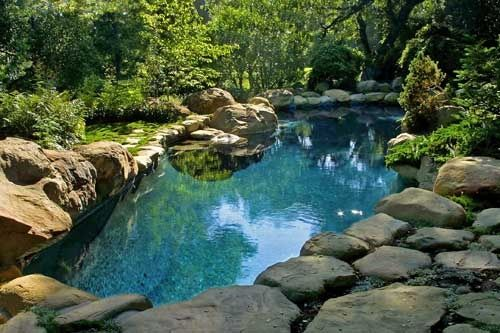 Natural Rock Pools Ranch Ideas Hot Tub Pool In Natural Stone For Garden Area Natural Swimming Ponds Swimming Pond Pool