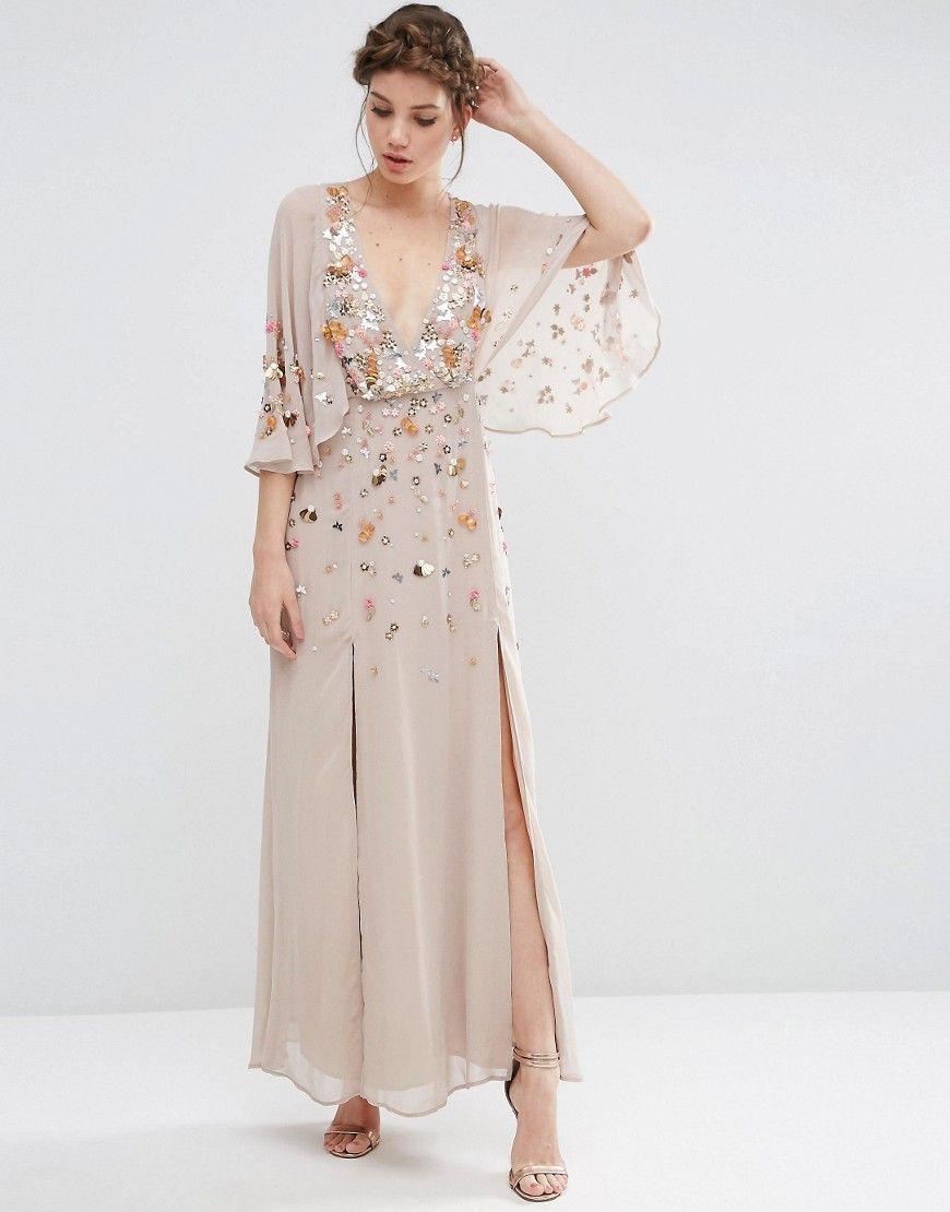 Embellished Deep Plunge Kimono | Really loving the kimono-style ...