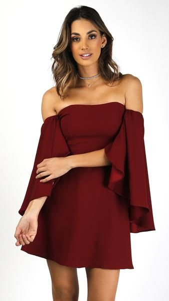 f956b0b5da62a Off Shoulder Open Bell Sleeve Dress in 2019 | || Msky new arrivals ...