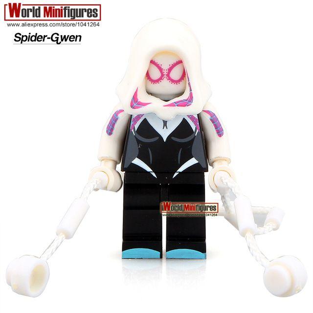Single Sale PG040 Spider-Gwen Minifigures Marvel Spider-Man Super Heroes Building Blocks Sets Models Best Children Gift Toys