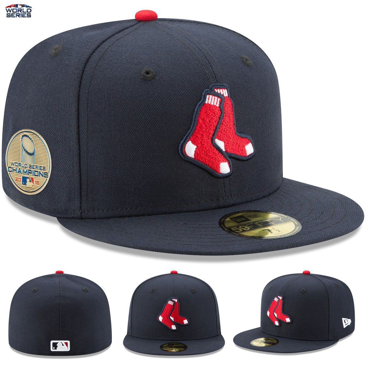 Boston Red Sox New Era 2018 World Series Champions 59FIFTY Fitted Hat Cap  Patch THEY HAVE DONE IT!! Your Boston Red Sox are 2018 World Series  Champions 47c34453545