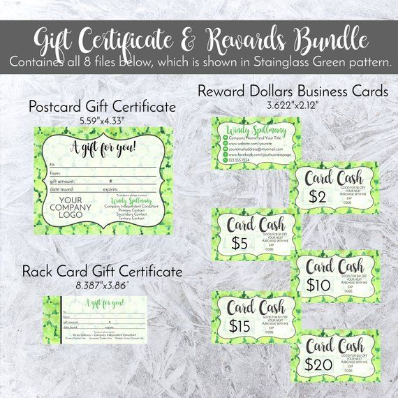 Gift Certificate + Rewards Bundle Personalized In