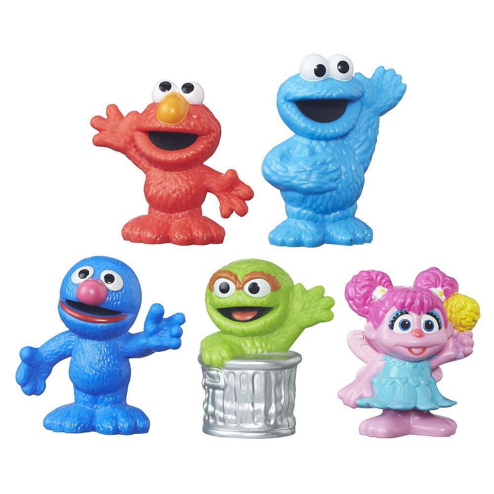 This Collection Of Figures Includes 5 Favorite Sesame