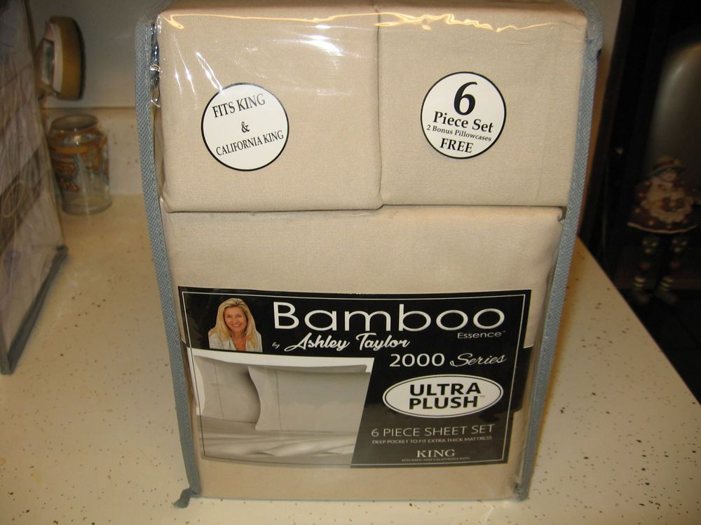 Bamboo Sheets Queen 6 Piece Set Deep Pocket For Extra Thick Mattr