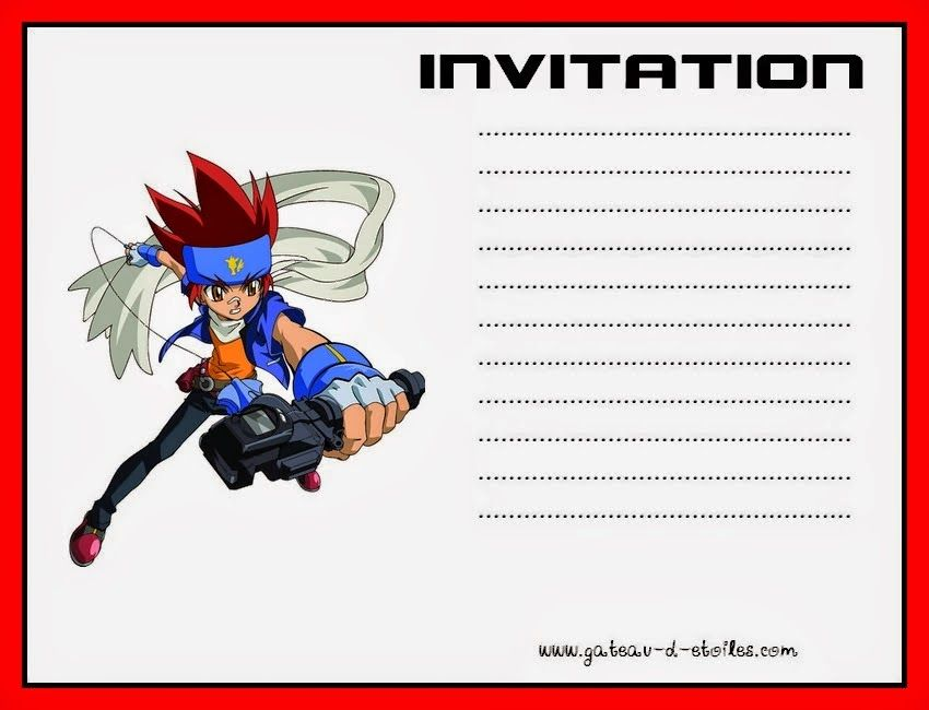 Beyblade: Free Printable Kit. | Beyblade Party for jacob | Pinterest ...