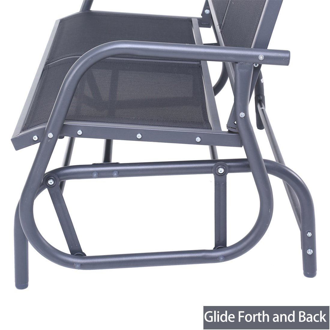 79be3fb7551 SUPERJARE Outdoor Swing Glider Chair Patio Bench for 2 Person Garden Rocking  Seating Dark Gray     Be sure to check out this awesome product.