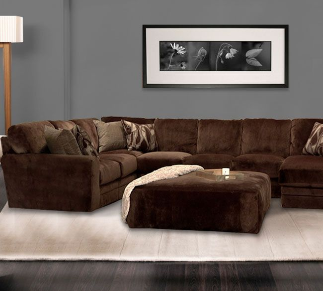 Cheap New Couches: Cheap Jackson Everest 4377 Chocolate Sectional
