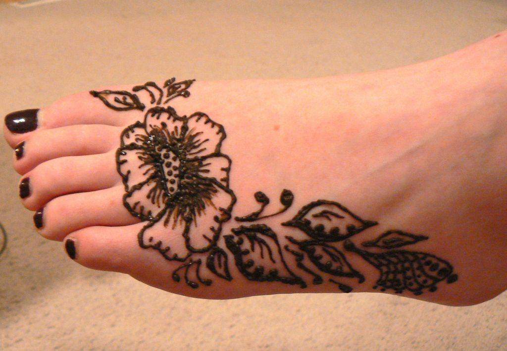 Leg Mehndi Easy : Leg mehndi designs simple easy henna patterns