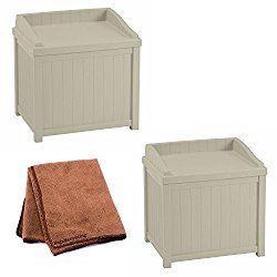 Suncast Ssw1000 Winter Storage Box For Ice Melt Sand Salt Snow De Icers