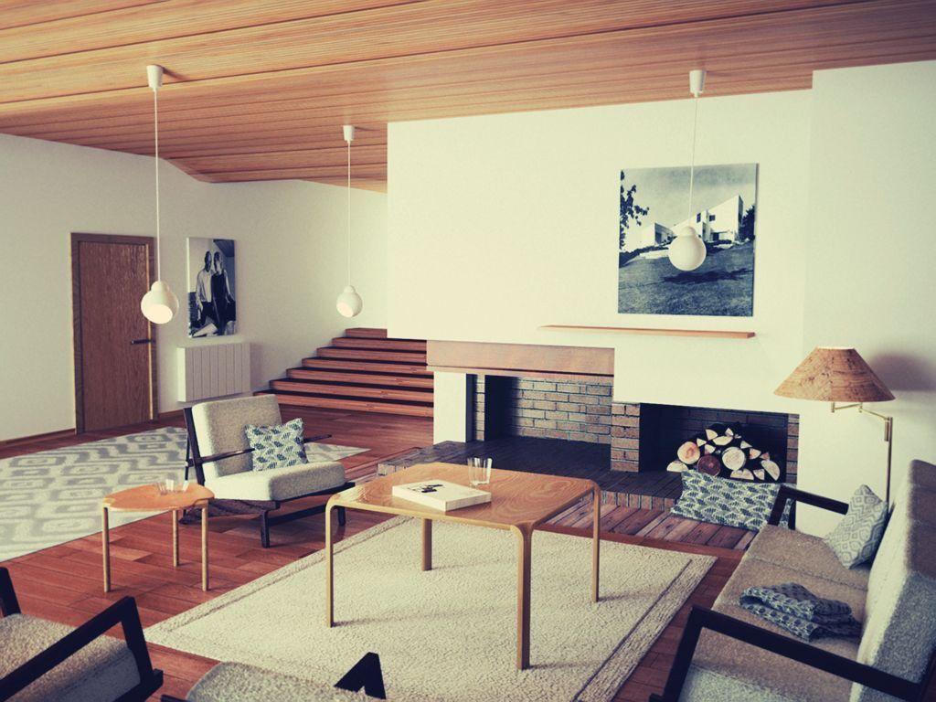 Alvar aalto maison louis carre home techos de madera for Alvar aalto muebles