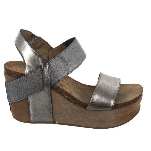 OTBT Women's Bushnell Wedge Sandal,Dark Silver,9.5 ...