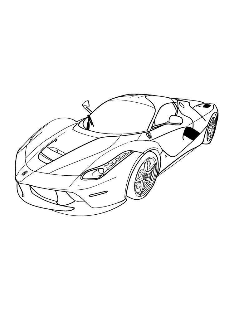 Ferrari Coloring Pages To Print di 2020 (Dengan gambar)