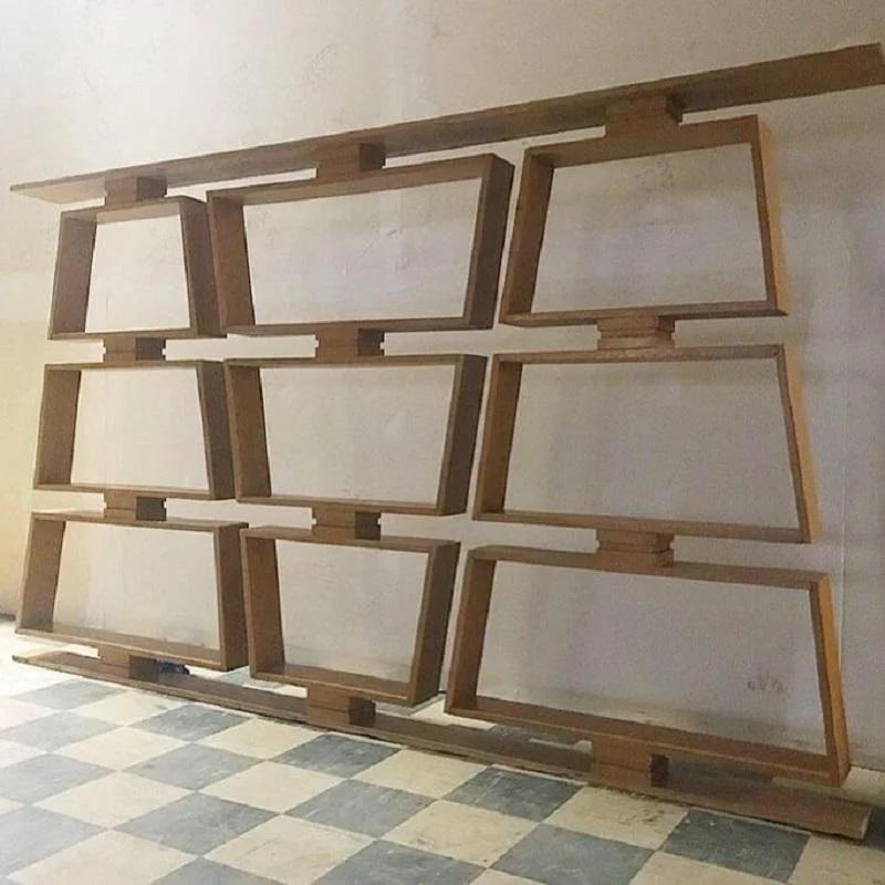 Mid Century Wood Room Divider/Shelves in 2020 | Wood room ...