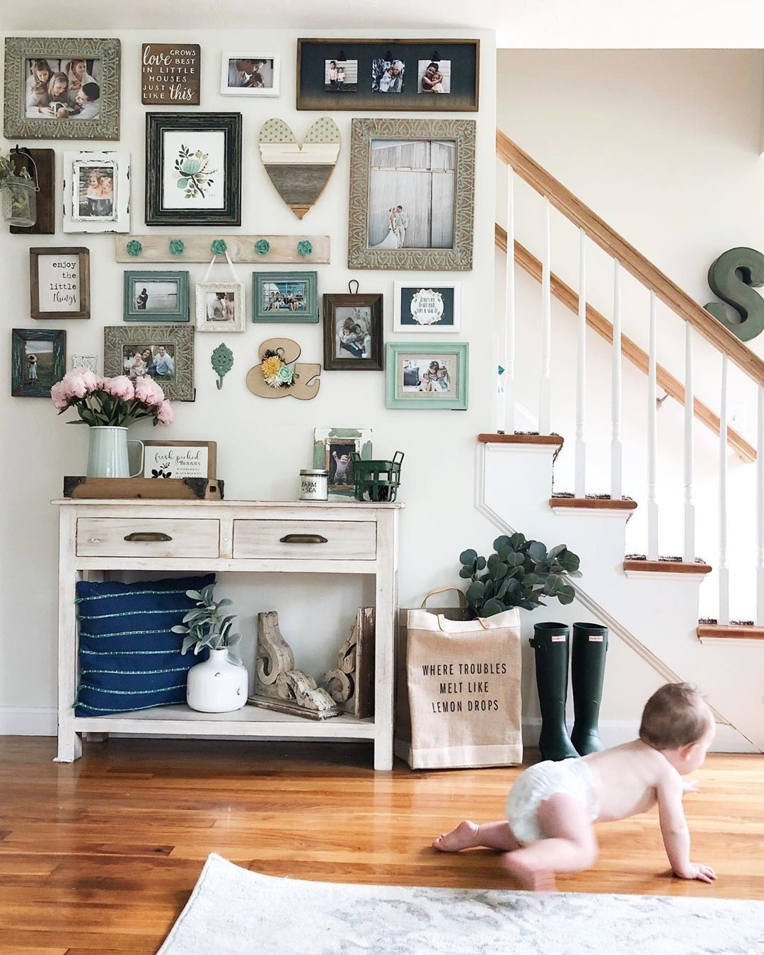 40 Inspiring Photo Collage Ideas And How To Display Abrittonphotography Wall Decor Living Room Picture Collage Wall Home Decor Pictures #photo #collage #in #living #room