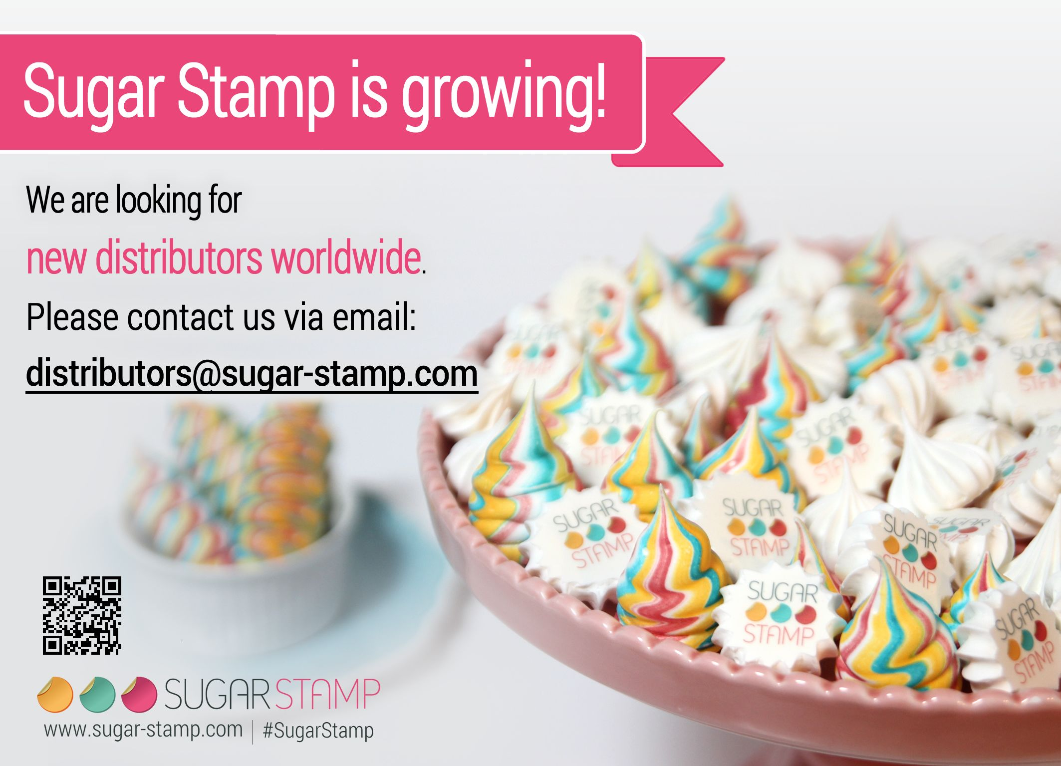 Sugar Stamp is growing! We are looking for new distributors