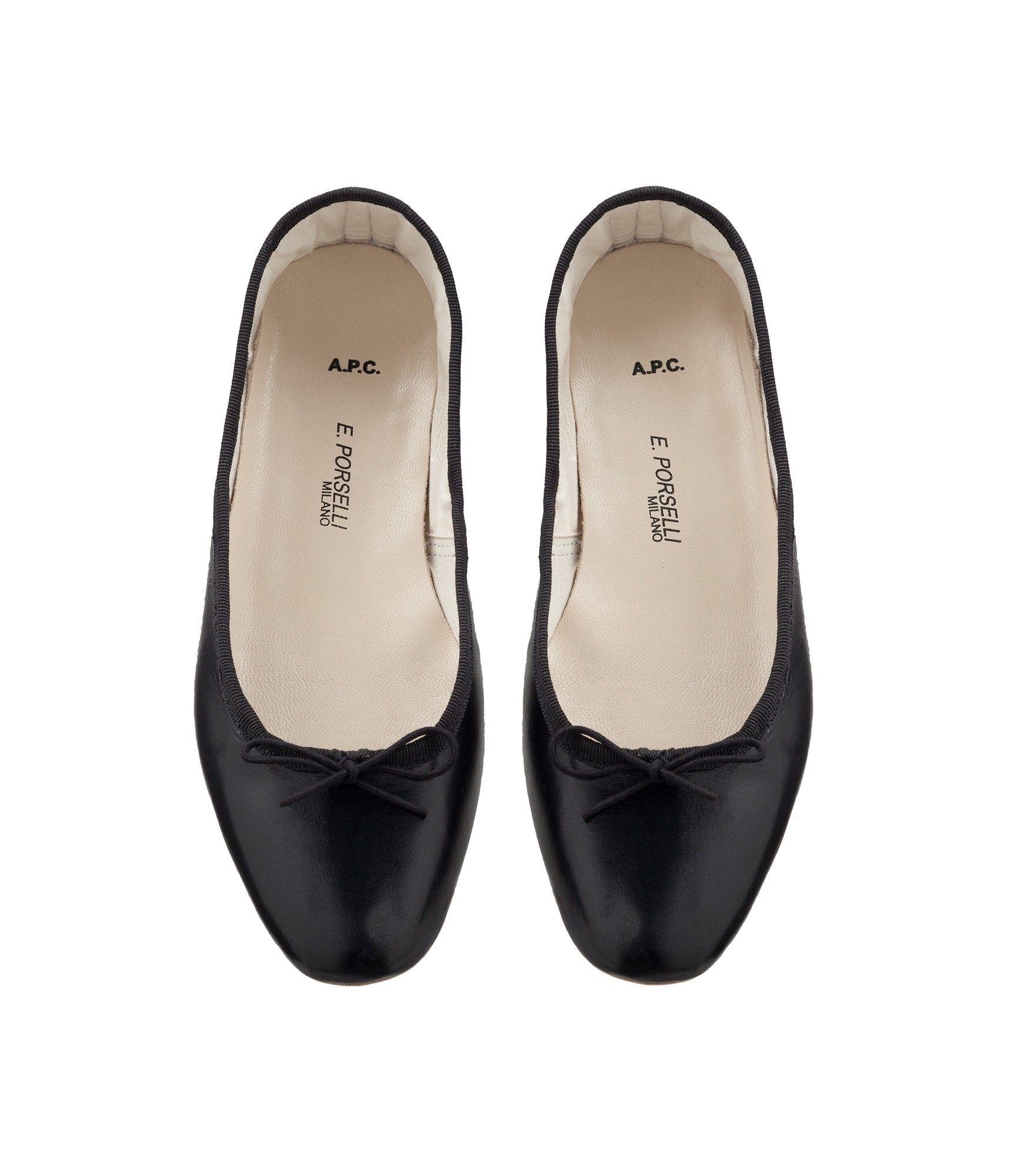 Ballet Flats Ballerina Shoes for Women On Sale, Black, Leather, 2017, 3.5 Acne Studios