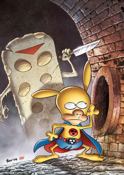 Leo Ortolani Copertina Rat Man Color Special 4 Colori Larry Fumetti Larry Manga