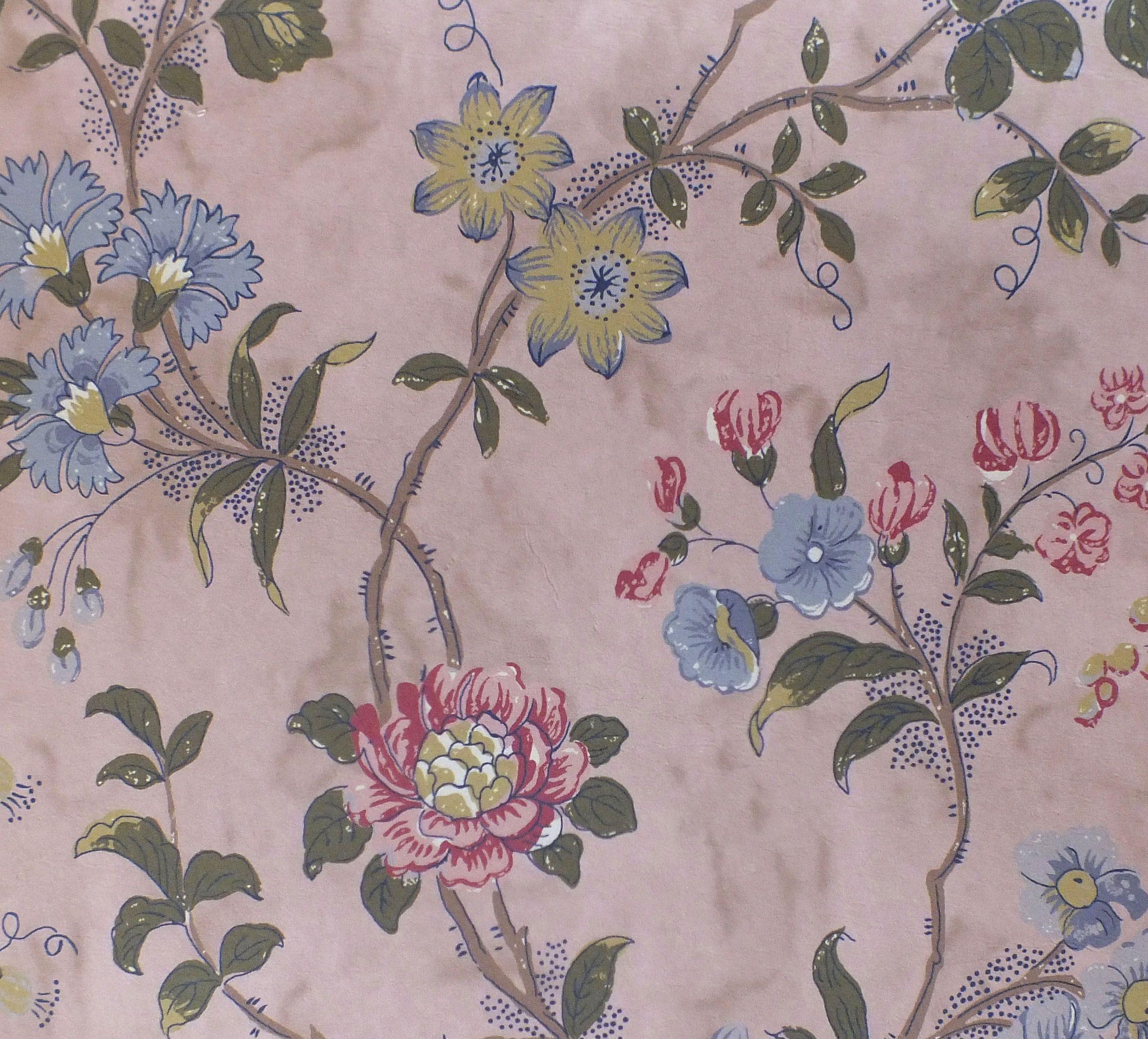 Tuileries Wallpaper In Plaster Pink, Watts 1874