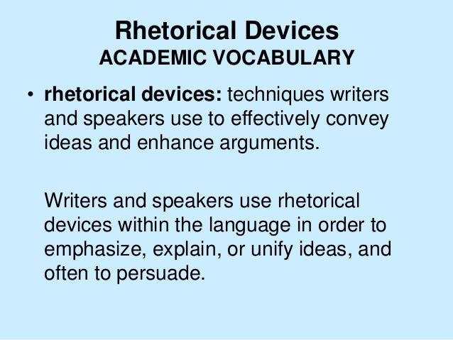 rhetorical devices in essays