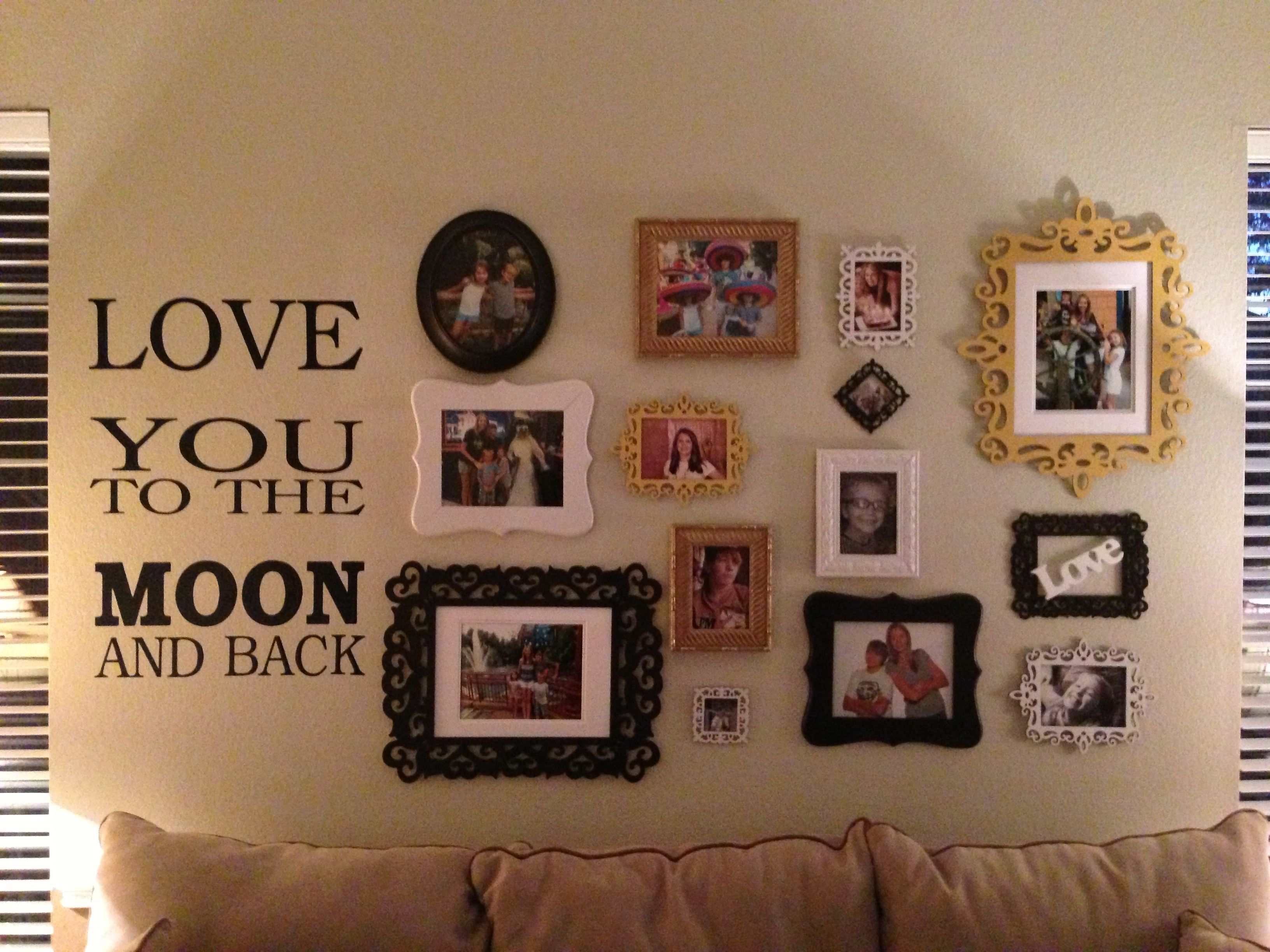 Family picture wall! | House | Pinterest