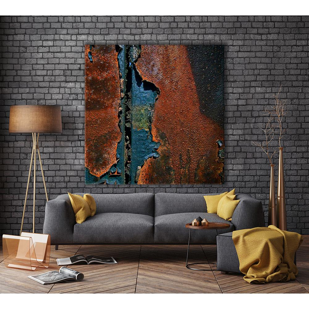 72 In X 72 In Contemporary Rust 1 By Jean Franois Dupuis Printed Framed Canvas Wall Art Modern Wall Decor Framed Canvas Wall Art Frame Wall Decor