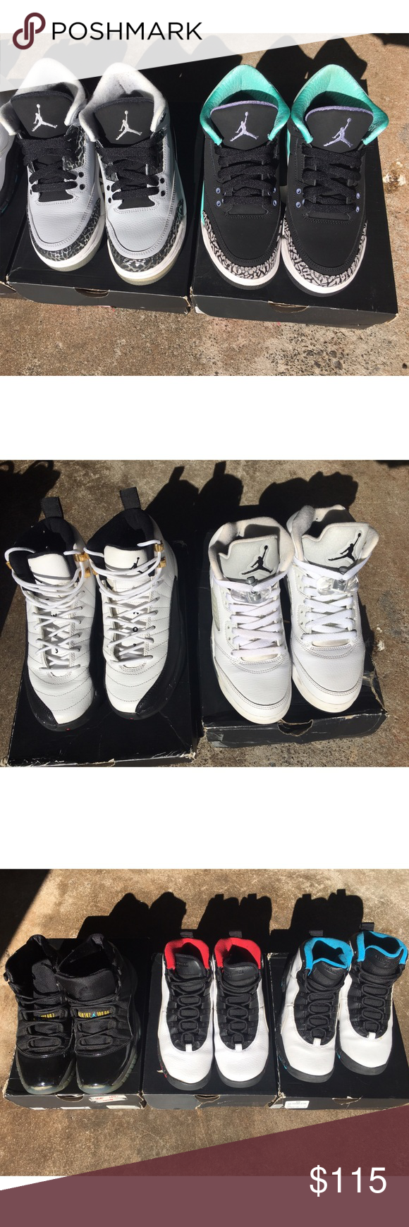 10c58bae666fe2 GS AIR JORDANS Size 4youth Gamma Blue 11 -  50 Need repair on front sole  Mint