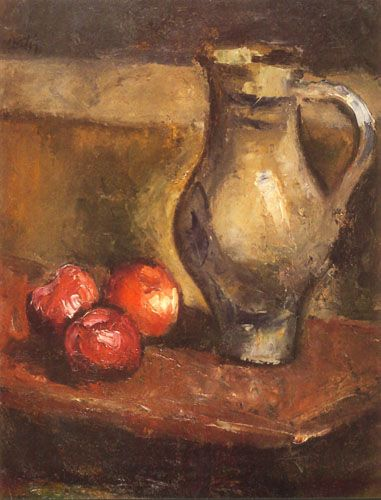 Jarrón y tres manzanas, Manuel Ortiz de Zárate