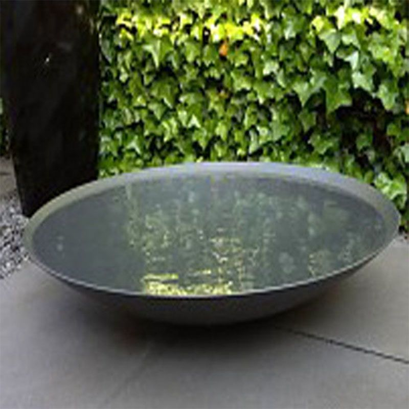 steel water bowl the pot company garden plant pots. Black Bedroom Furniture Sets. Home Design Ideas