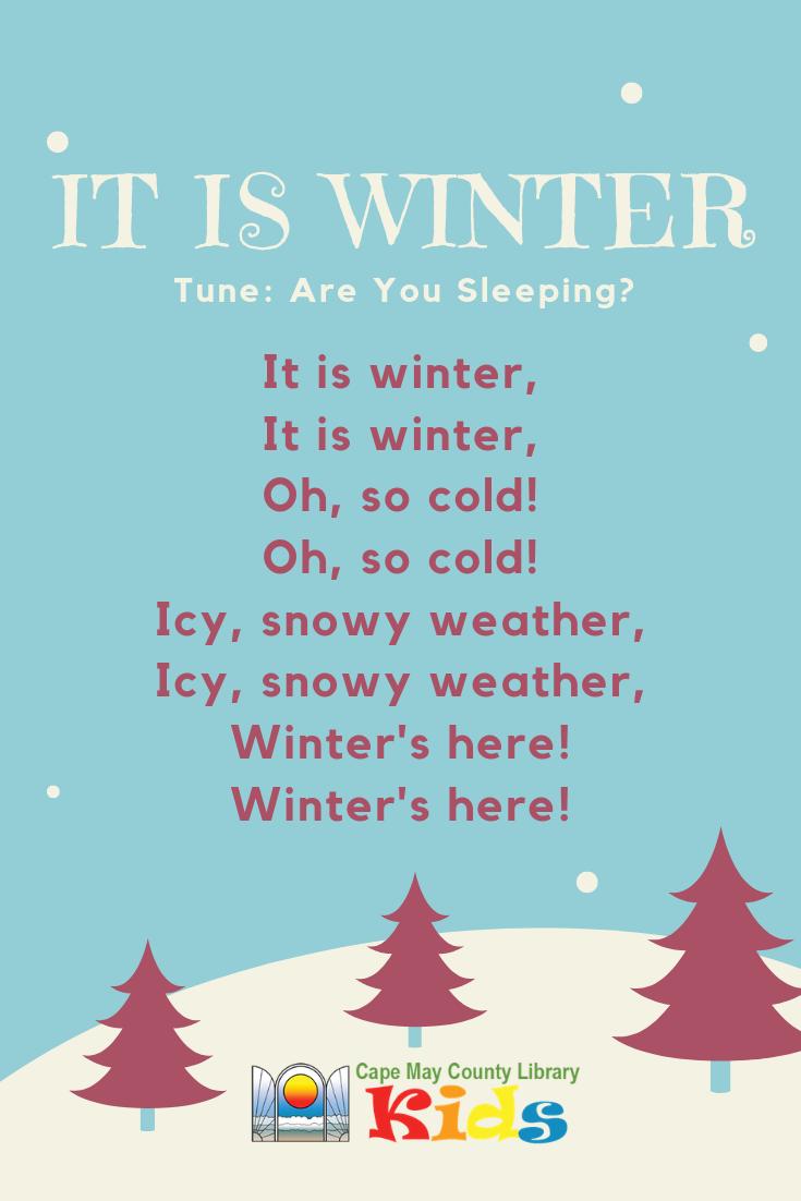 It Is Winter Rhyme