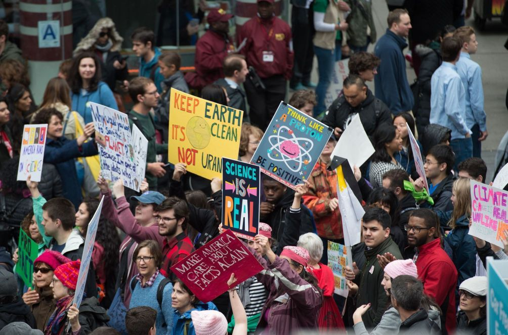 March For Science Protesters In Manhattan On Saturday March For Science Science Photo