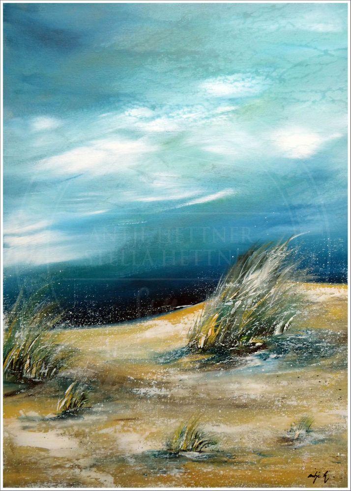 Antje hettner bild original kunst gem lde leinwand malerei abstrakt xxl acryl ebay ocean - Leinwand malerei ...