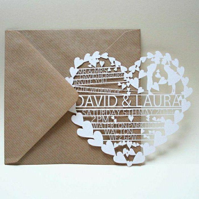 Kreatives Modell Hochzeitseinladung In Herz Form