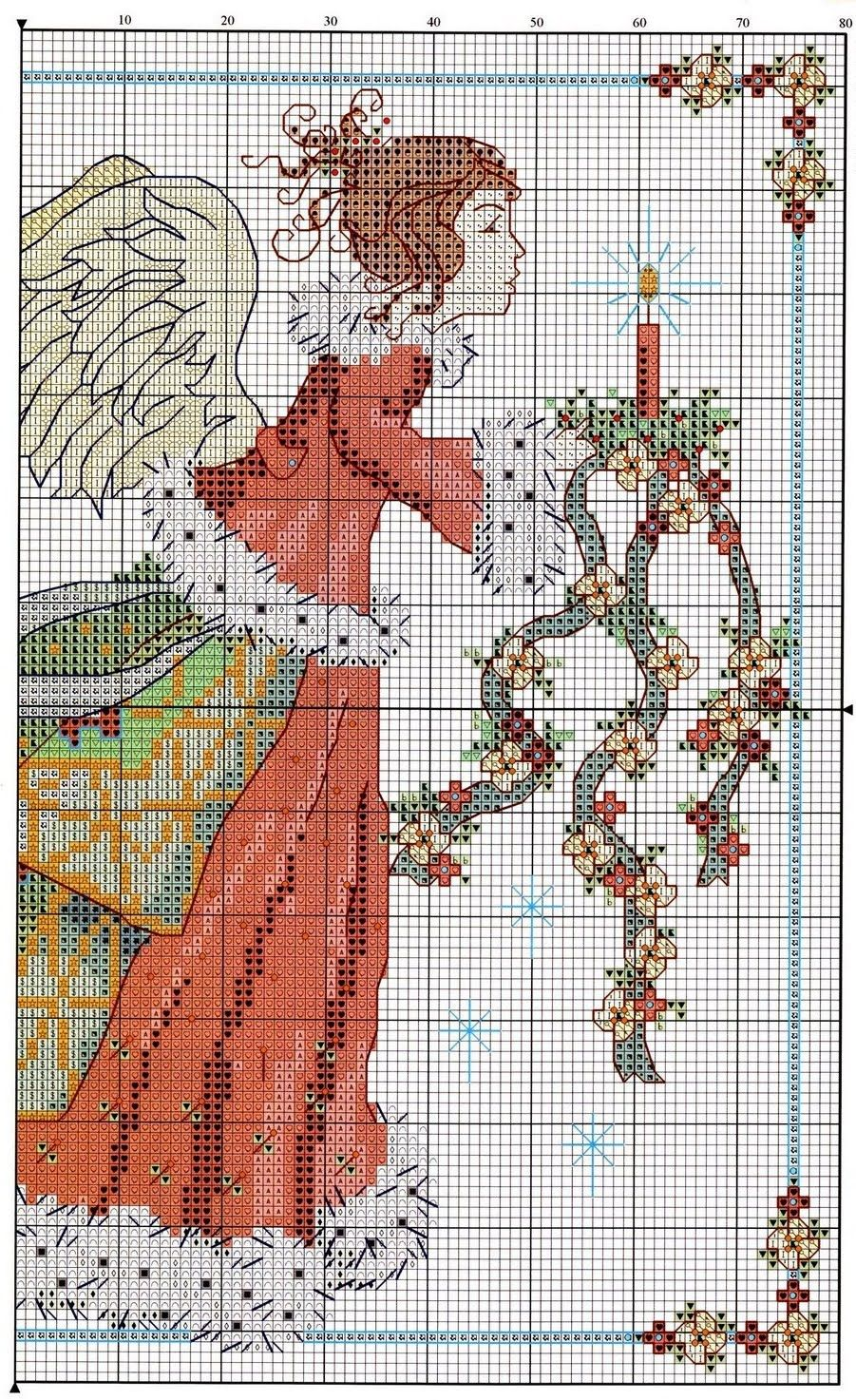Free Christmas angel cross stitch pattern pg 1 #stitching ...