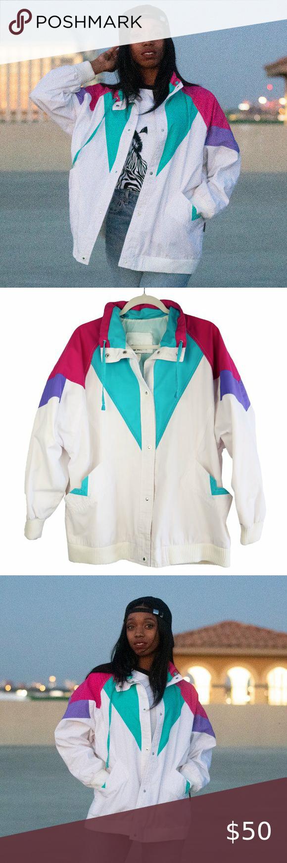 Vintage Izzi 80 S 90 S Multicolored Jacket Large Vintage Coat Jackets True Vintage [ 1740 x 580 Pixel ]